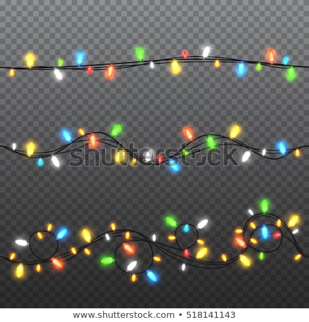 color garland festive decorations glowing christmas lights isolated on transparent background stock photo © olehsvetiukha