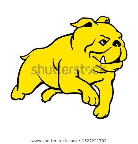 Cartoon bulldog courir illustration chien Photo stock © cthoman