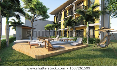 Bois maison externe résidentiel garage nord-ouest Photo stock © iriana88w