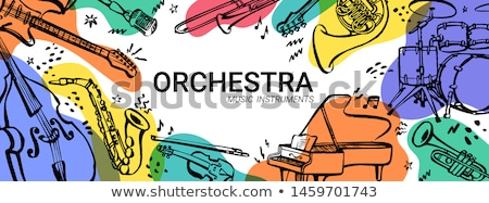 Watercolor background with drums Stock photo © Artspace