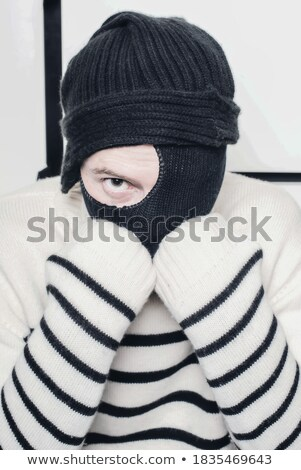 Tolvaj rejtőzködik arc ház kilátás lop Stock fotó © AndreyPopov