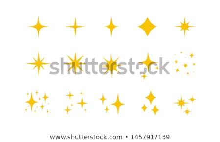 желтый оранжевый вектора звездой икона знак Сток-фото © blaskorizov
