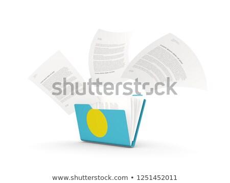 Dobrador bandeira Palau arquivos isolado branco Foto stock © MikhailMishchenko