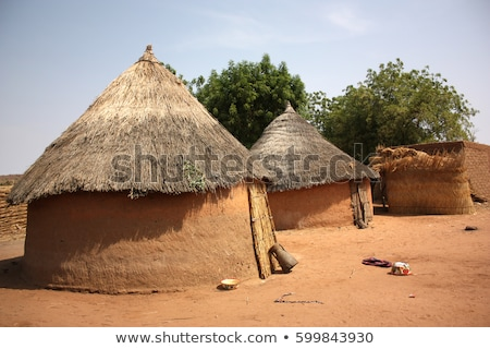 An african hut in desert Stock photo © colematt