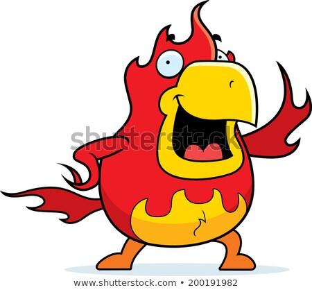 Desenho animado phoenix ilustração fogo vermelho Foto stock © cthoman