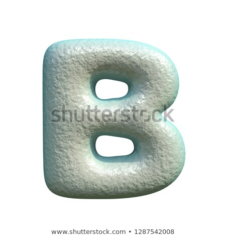 Grey blue clay font Letter B 3D Stock photo © djmilic