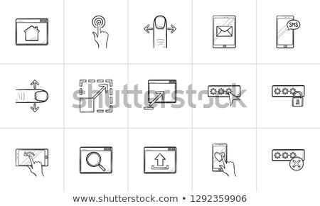 okostelefon · izolált · fehér · hírnök · ablak · mobil - stock fotó © rastudio
