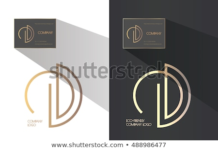 Logo e betű kombináció ikon vektor művészet Stock fotó © blaskorizov