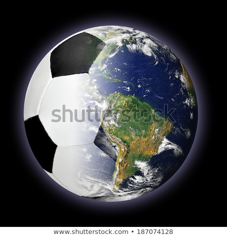 Stock fotó: Futballabda · világ · Föld · Föld · földgömb · tenger