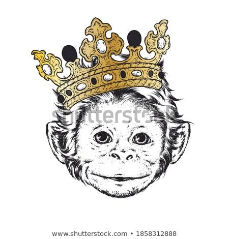 Króla królowej kobieta tle sztuki Zdjęcia stock © colematt
