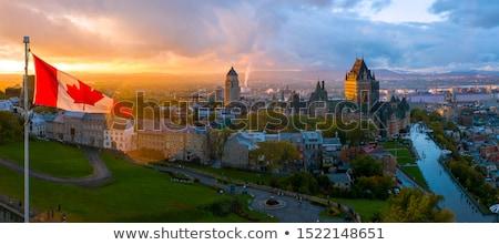 Stok fotoğraf: Quebec · şehir · ufuk · çizgisi · panorama · gün · batımı
