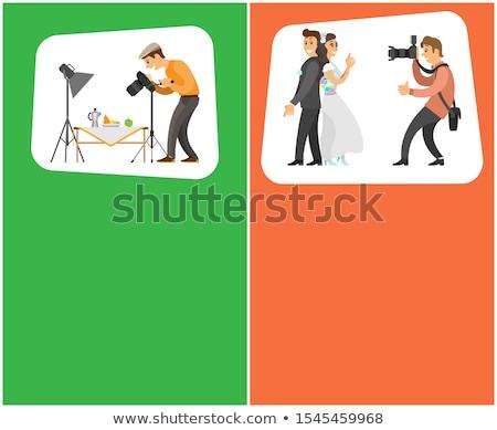 カメラマン 職業 趣味 明るい バナー セット ストックフォト © robuart