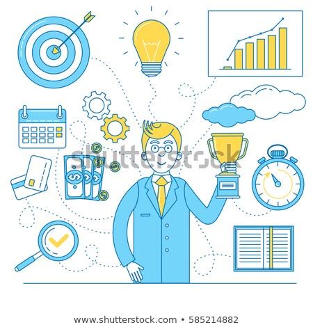 business · financieren · timing · illustratie · ontwerp · witte - stockfoto © kali