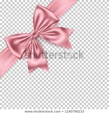 Realistic pink bow isolated on transparent background. Detailed decoration elements for Christmas, b stock photo © bonnie_cocos