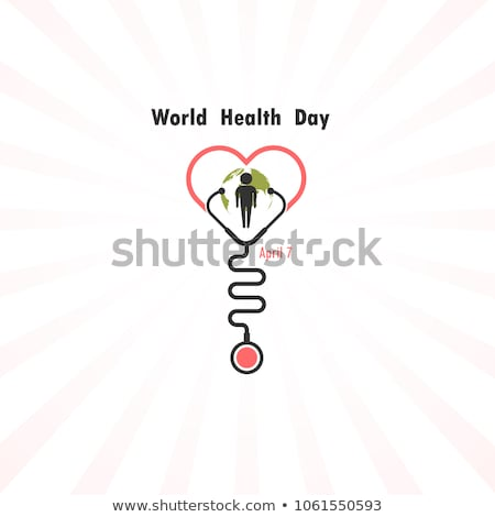 april 7 world health day greeting card heart shape stock photo © orensila