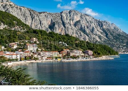 Górskich widoku region Chorwacja plaży Zdjęcia stock © xbrchx