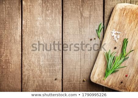 Rozmaring fa friss fából készült sekély mélységélesség Stock fotó © AGfoto