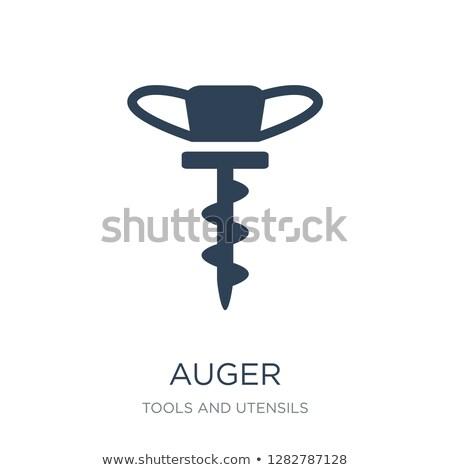 Auger icon Stock photo © angelp