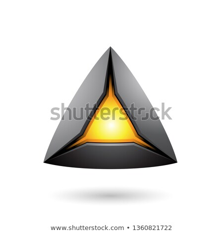 Black Pyramid with a Glowing Core Vector Illustration Stock photo © cidepix