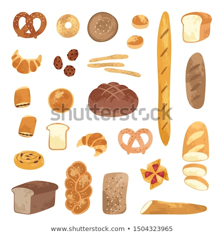 Different types of bread for breakfast Stock photo © colematt
