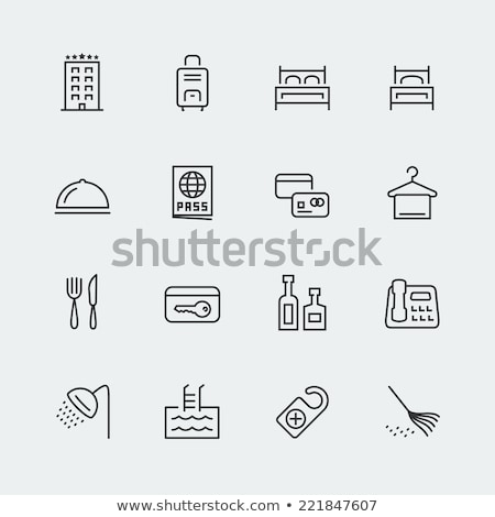 suitcase related vector line icon stock photo © smoki