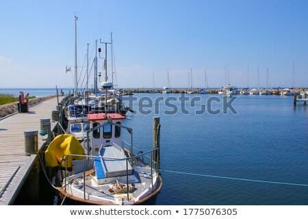 港 島 北方 ドイツ 海 ボート ストックフォト © LianeM