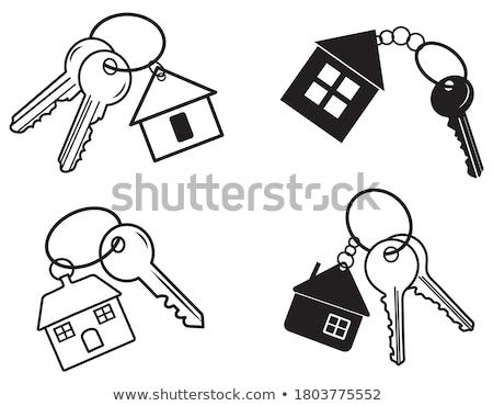 ház · kulcs · otthon · ajtó · biztonság · piac - stock fotó © biv