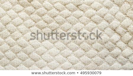 Meleg kötött ruházat puha fehér szövet Stock fotó © Anneleven
