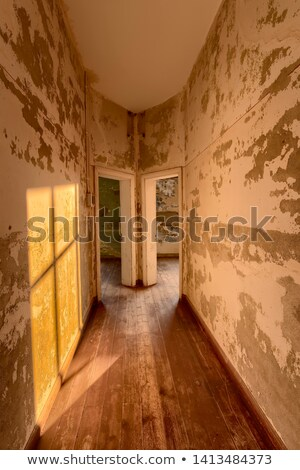 Stock photo: Hallway in a deserted building, Namibia