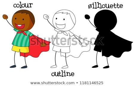Ingesteld jongen verschillend grafisch ontwerp Stockfoto © colematt