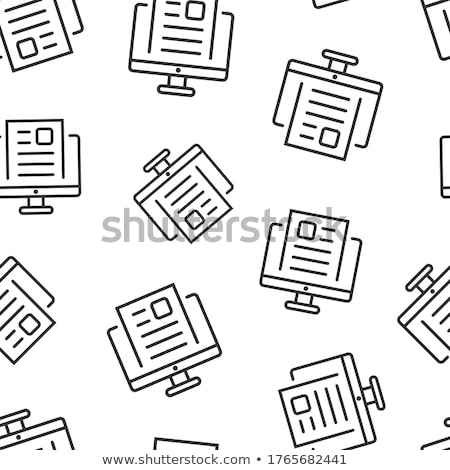 Pattern with journalism icons Stock photo © netkov1