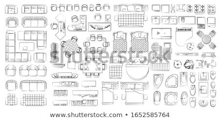 konyha · feliratok · szett · tányér · edény · villa - stock fotó © netkov1
