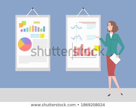 Secretary with Information on Board, Visualization Stock photo © robuart