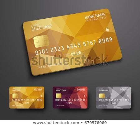 Vector goud omhoog vip Stockfoto © TRIKONA