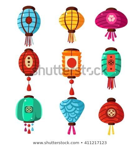 Chinois lanterne différent couleur Photo stock © pikepicture