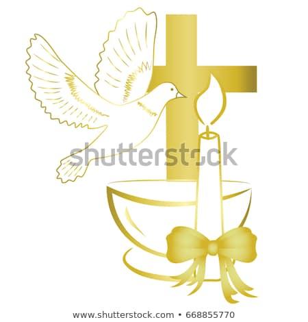 洗礼 要素 実例 クロス タオル 聖書 ストックフォト © lenm