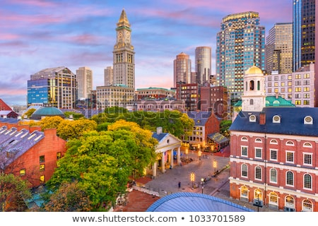 Boston şehir merkezinde Cityscape nehir Bina şehir Stok fotoğraf © vichie81
