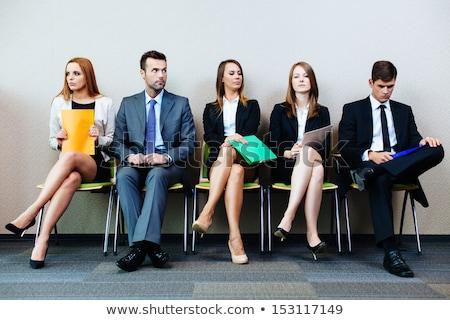 vergadering · stoel · kantoor · groep · interview · vrouwen - stockfoto © andreypopov