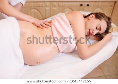 マッサージ セラピスト 妊婦 アフリカ ホールド ストックフォト © AndreyPopov