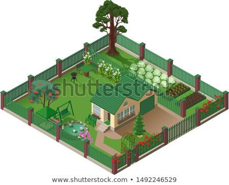 国 家 コテージ 庭園 アメリカン 郊外 ストックフォト © orensila
