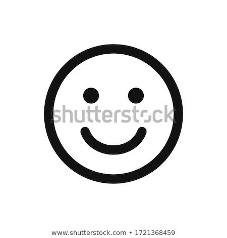 Fun smiley face icon set isolated background Stock photo © cienpies
