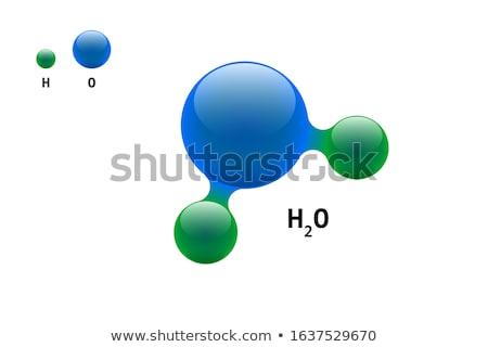 воды химического модель вектора химии Сток-фото © pikepicture