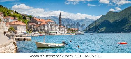 Zomer historisch stad Montenegro hemel water Stockfoto © Givaga