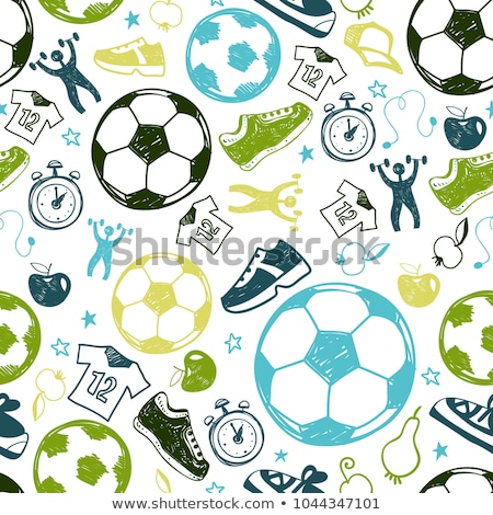 football vector hand drawn doodles seamless pattern graphics background design stock photo © balabolka