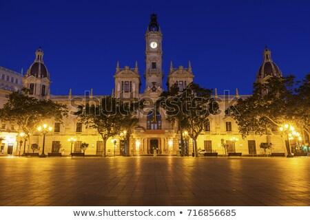 Correios edifício Valência Espanha central noite Foto stock © borisb17