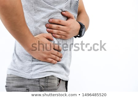 Férfiak kéz a kézben gyomor orvosi gyermek gyerek Stock fotó © Lopolo
