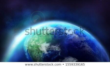 рассвета планете Земля мира солнце Сток-фото © ConceptCafe