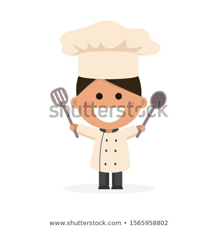Boy dressed as a chef. Flat vector illustration Stock photo © Imaagio