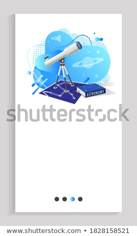 Astronomy Telescope and Map of Stars, Discipline Stock photo © robuart