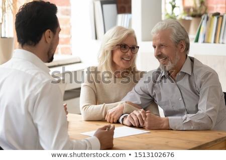 Vieillard proposer mariage proposition permanent genou Photo stock © anbuch